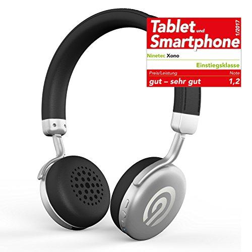 Solo-verstellbare Bügel (NINETEC Xono Wireless Bluetooth Stereo Bügel-Kopfhörer Headset HIFI Headphone Silber)