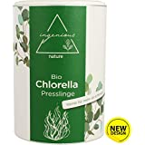 ingenious nature® Laborgeprüfte Bio Chlorella Presslinge - 5 Monats Vorrat - ohne Zusätze - 1000 Presslinge je 500mg (5,78€/100 g)