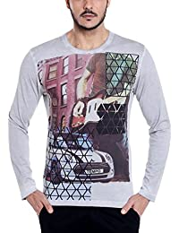 Dream Of Glory Inc Men's Cotton Full Sleeve Round Neck Rock Star Mini Cooper Printed T-shirt Available In Plus...