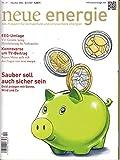 Neue Energie 10 2016 Geld anlegen mit Sonne, Wind und Co. EEG Umlage Zeitschrift Magazin Einzelheft Heft Klimaschutz Erneuerbare Energien