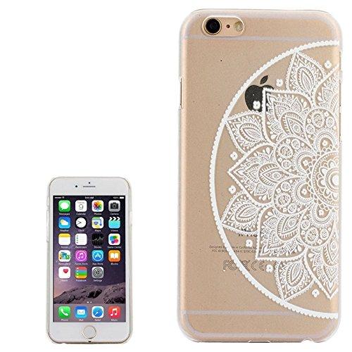 GHC Cases & Covers, Ultra-Thin geschnitzte Blumenmuster Transparente Rahmen PC Schutzhülle für iPhone 6 ( SKU : S-IP6G-0641F ) S-IP6G-0641J