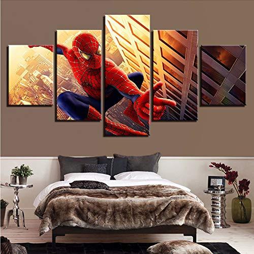 Zybnb Dekor Moderne S Für Gemälde 5 Panel Kunstdruck Wand Film Bild Kinderzimmer Leinwand Modulare Poster-10X15/20/25Cm,With Frame