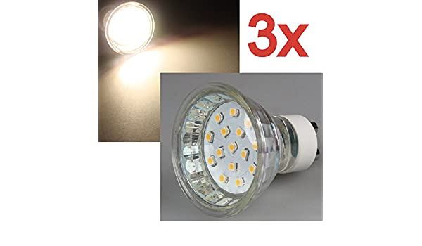 Ein Stück 15SMD LED GU10 Warmweiß 230V Strahler Lampe Spots 0,8W 230V 50 Lumen