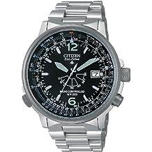 Citizen AS2020-53E - Reloj analógico de cuarzo para hombre, correa de acero inoxidable multicolor