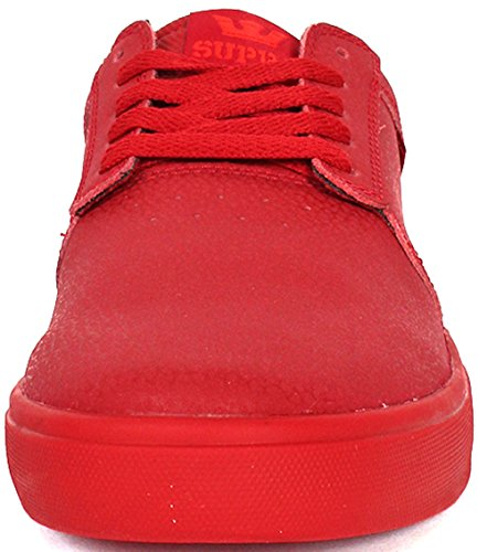 Supra Hammer, Sneakers Basses mixte adulte Rouge (RED - RED RED)