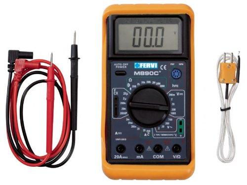 Digital-Multimeter mit sonda für Messung Temperatur, Kontinuität Sonora e Kontrolle Dioden fervi T050 -