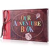 TKFY Álbum de Fotos Nuestro Libro de Aventuras Pixar Up Hecho a Mano DIY Scrapbook Familiar Boda Retro Aniversario Scrapbook Álbum de Viaje Álbum Infantil con Caja de...