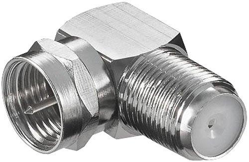 esoSAT Sat Anschluss Adapter: Sat-Kabel-Adapter F-Stecker auf F-Buchse, 90° abgewinkelt, schraubbar (Antennenadapter)