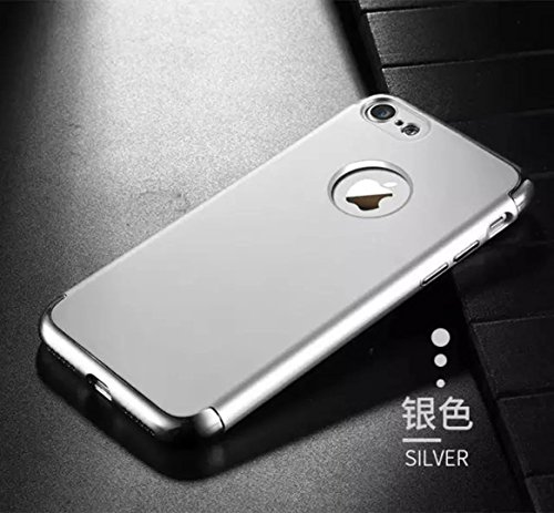 iPhone 7 Case, JOYROOM 3 in 1 Ultra Thin and Slim Design Coated Premium Non-Slip Surface Shockproof Resist Cracking Electroplating PC Skin Protector for iPhone 7(Rose golden) Silver