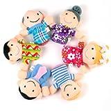 6tlg. Familie Fingerpuppen Finger Puppe Puppentheater Handpuppe Spielzeug Kinder