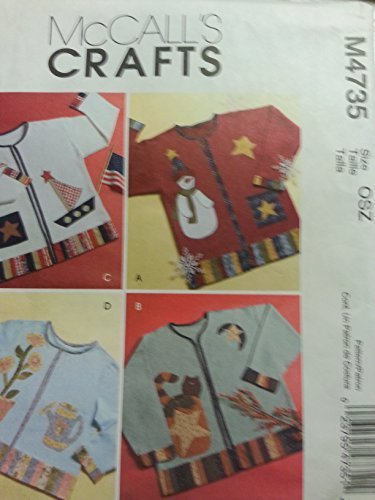 McCall's Crafts Pattern M4735 ~ Seasonal Appliques for Sweatshirt (Sailboat, Snowman, Halloween, Flowers) ~ One Size by McCall's
