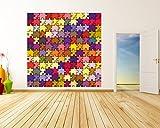 Vlies Fototapete - Puzzle - 150x150 cm - mit Kleister - Foto auf Tapeten - Wandtapete – Vliestapete – Wanddeko