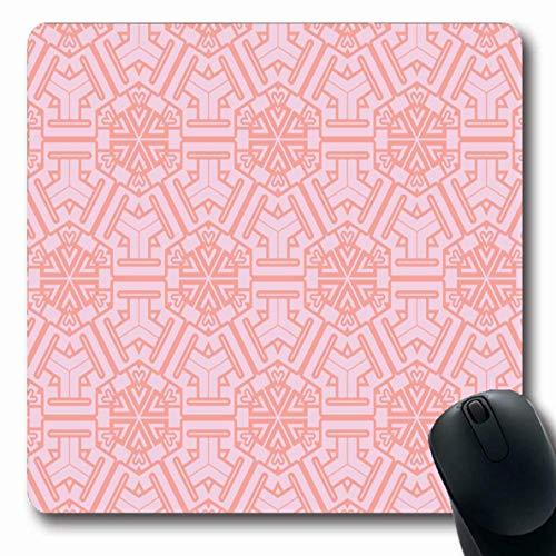 Mauspads für Computer Linie Bluse Geometrisches Muster Abstrakte Geometrie Rahmen Leinwand Zellfarbe Tröster Design Verziertes, rutschfestes, längliches Gaming-Mauspad -