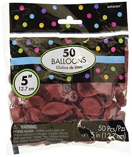 Amscan 115920.40 Latex Balloons Ballons, Apple Red