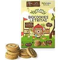 Yammy - Galletas Sin Azúcar Ecológicas Mini Letras 12 Meses Pack 6 x 120 gr -