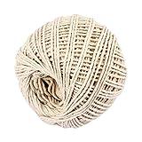 TAOtTAO Ficelle de coton pour pâtissier 2 couleurs rustiques fait à la main, G, 50g