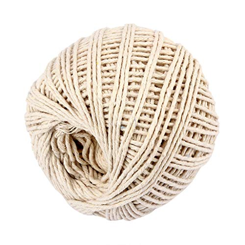 Gaddrt Two Colors Cotton Bakers Twine Rope Rustic Country Crafts Accessories klobige Milch Baumwollgarn Bunte Hand weiche Hand Roving Schal Hut Stricken Baby Häkeln Strickwaren ()