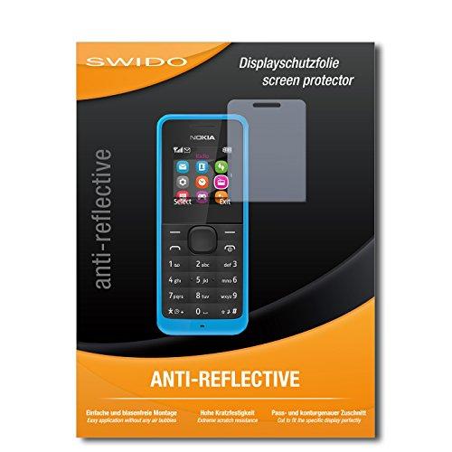 SWIDO Bildschirmschutz für Nokia New 105 Dual SIM [4 Stück] Anti-Reflex MATT Entspiegelnd, Hoher Härtegrad, Schutz vor Kratzer/Glasfolie, Schutzfolie, Bildschirmschutzfolie, Panzerglas Folie