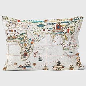 1623mundo mapa británico Biblioteca cojines