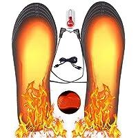 Hospaop Semelle Chauffante, Semelle Thermique, USB Semelles chauffantes, Chauffe Pied, pour d'hiver, de pêche, de randonnée, de Camping, Taille Peut être coupé et Lavable