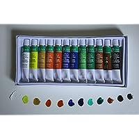 Artist O1212E - Pack de 12 tubos de pintura oleo, multicolor