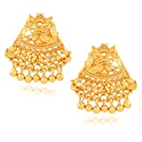 Fashionaya Gold China Temple Stud Earrin...