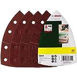 Bosch 2607017112 Set de 25 abrasifs pour Ponceuse multi 102 x 62 x 93 mm Grains 40/80/120/180
