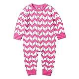 Shopaholic0709 Neugeborene Kleidung, Baby-Jungen-Mädchen Langärmeliger strickender rhombischer einteiliger Strampler (6-24Monate)