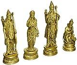 Redbag Ram Durbar carved Brass Sculptures