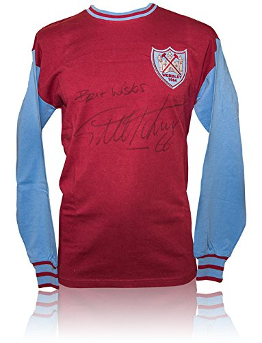 SALE-20-OFF-RRP-GUARANTEED-AUTHENTIC-SRS-033-HAND-SIGNED-SHIRT-WEST-HAM-UNITED-1964-GEOFF-HURST-COA