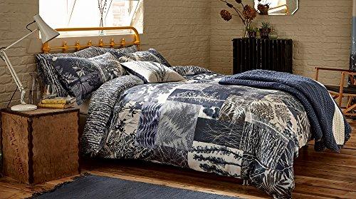 clarisssa Hulse Patchwork Bettbezug Größe, Baumwolle, indigo, King