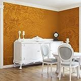 Apalis Vliestapete Goldener Barock Fototapete Breit | Vlies Tapete Wandtapete Wandbild Foto 3D Fototapete für Schlafzimmer Wohnzimmer Küche | gelb, 94934