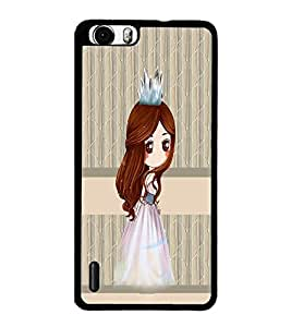 PrintDhaba Princess Doll D-3841 Back Case Cover for HUAWEI HONOR 6 (Multi-Coloured)