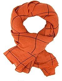 53bca67f9fca Ella Jonte FOULARD ÉCHARPE FEMME by élégant parfait a combiner orange noir  agréable ...