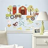 Hochwertiger Wandtattoo Tattoo Wand Tattoo Bauernhof kühe Pferde Traktor künstlerisch mit außergewöhnlichem Design macht die Wand zu einen echten Blickfang