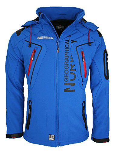 14X5 Geographical Norway Tambour Herren Softshell Jacke Outdoor Blau L