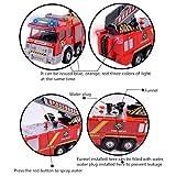 FUNTOK Feuerwehrauto, Spielzeugauto Action Series Fire Truck, Feuerwehrfahrzeug Feuer LKW Auto Spielzeug mit Drehleiter Wasserpumpe Light und Sound für Kinder Vergleich