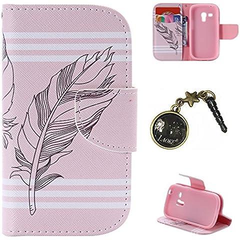PU Carcasa de silicona teléfono móvil Painted PC Case Cover Carcasa Funda De Piel Caso de Shell cubierta para Samsung Galaxy S3Mini i8190GT-i8200(4pulgadas) + Polvo