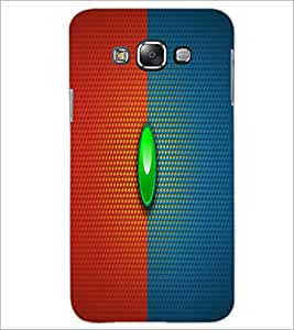 PrintDhaba Red Blue pattern D-1676 Back Case Cover for SAMSUNG GALAXY E7 (Multi-Coloured)