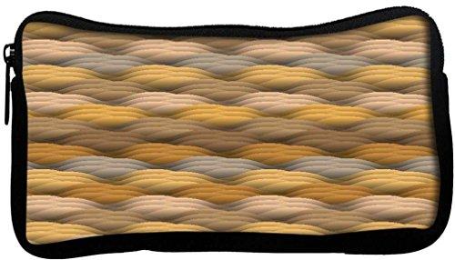 Snoogg Texture sans fin dans des couleurs chaudes Poly Canvas Student Pen Trousse Porte-monnaie Utility Pouch Sac de maquillage