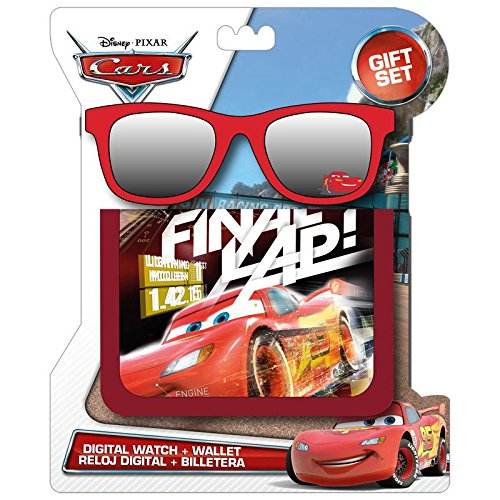 Kids Licensing-WD17037-Set Brieftasche und Sonnenbrille Rot Cars