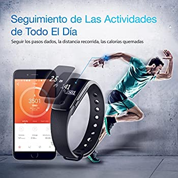 Fitness Tracker, Mpow Heart Rate Monitor Tracker Smart Bracelet Activity Tracker Bluetooth Pedometer With Sleep Monitor Smartwatch For Iphone Samsung & Other Android Or Ios Smartphones For Adults Kids 9