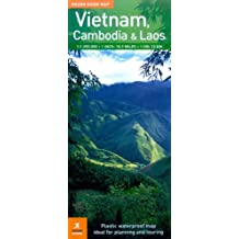 The Rough Guide Map Vietnam, Laos & Cambodia