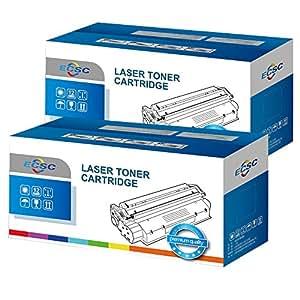 ECSC Compatibile Tonico Cartuccia Sostituzione per Brother DCP-1510 1512 1610W 1612W HL-1110 1112 1210W 1212W MFC-1810 1910 1910W TN1050 (Nero, 2-Pack)