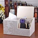 Porte-couvercle de boîte à mouchoirs Boîte à mouchoirs multi-fonctions créative en cuir pompage papier tube tube de papier tube boîte de papier salon table basse boîte de rangement de contrôle à dista