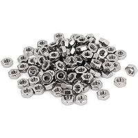 Sujetador perno - SODIAL(R) Sujetador de acero inoxidable 304 tuercas hexagonales M3 metricos DIN934 100pzs para perno