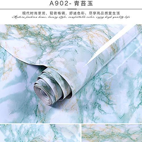 lsaiyy Selbstklebende wasserdichte Küche ölbeständige Aufkleber Schranktisch Arbeitsplatte Möbel Renovierung Tapete-60CMX5M -