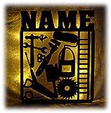 Schlummerlicht24 3d Led Tool Lampe Nachtlicht Werkzeug lustige witzige Männer-Geschenke mit Namen, für Handwerker personalisierte Deko-Lampe Werkstatt Büro Arbeits-Zimmer Dachdecker Auto-Mechaniker