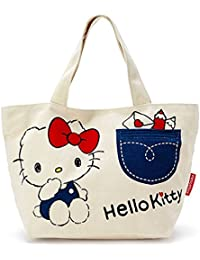 Sanrio (with Front Pocket) Store Hello Kitty Tote Bag Plush Kawaii 2016 NEW Hello Kitty Japan Import