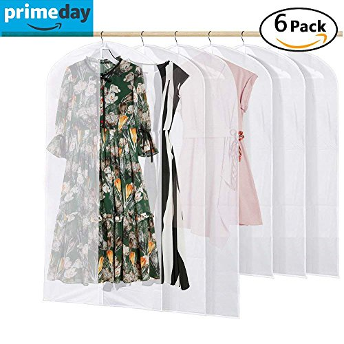 [6 Stück] Kleidersack, Beyme Hochwertiger Anzugsack / Kleiderhülle aus atmungsaktivem Material,...